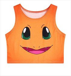 Women's Squirtle Jigglypuff Pikachu AA style Bustier Crop Top Sexy Camisole 3D Pokemon cartoon Print cropped tank Top