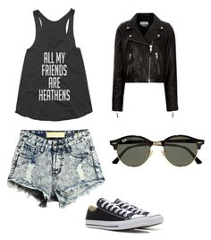 Heathens by colphi43 on Polyvore featuring polyvore, fashion, style, Étoile Isabel Marant, Converse, Ray-Ban and clothing