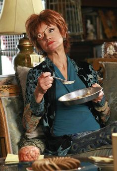 'Aunt' Lily , enjoying her mood enhanced pie Swoosie Kurtz, Hannibal Tv Series, Bryan Fuller, Pushing Daisies, Pie Hole, Geek Things, Lee Pace, Television Program, Eccentric