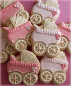 Bebé ducha Cookies galletas de cochecito de por SweetArtSweets
