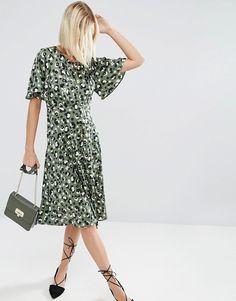 Image 4 ofASOS Midi Tea Dress in Animal Print