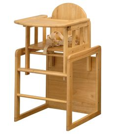 Home Baby Highchair Feeding Furniture Chair Seat Table Tray Wood Traditional Big
