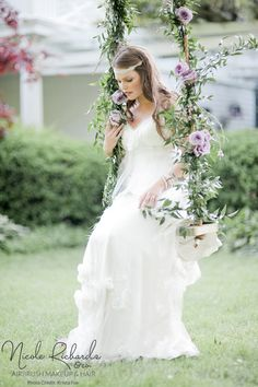 Provence-Inspired Shoot featured on Green Wedding Shoes | www.kristafox.com #Airbrush #Makeup & #Hair By www.nicolerichard... | Gown www.mrsbridalbout... Toronto #wedding #bridal #gown #waves #Niagarabythelake #outdoorwedding #lavendertheme