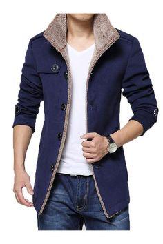 Men Casual Slim Fit Trench Coat