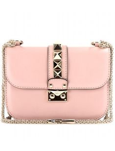 Valentino Lock Leather Shoulder Bag