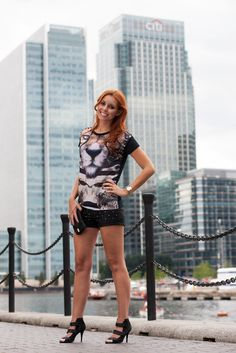 Look of The Day - Tiger Print T-shirt   Miss Street Chic