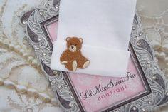 A personal favorite from my Etsy shop https://www.etsy.com/listing/288400613/newborn-hospital-hat-teddy-bear-applique
