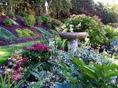flowers in garden slope - Google Search