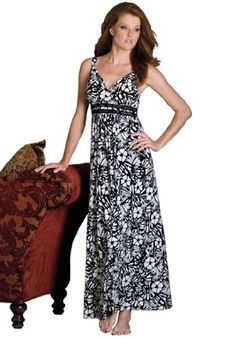 Amoureuse Plus Size Long Floral Print Nightgown $44.99 - $49.99
