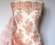 Metallic copper ~Couture lace ~  Dentelle de Callais ~Solstiss~Designer lace ~Chair ~FrenchMetallic lace~Pantone wedding…
