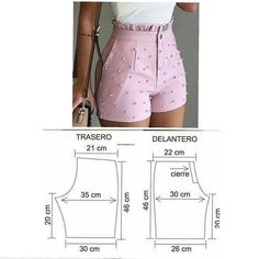 Sewing Shorts, Diy Shorts, Sewing Clothes, Diy Clothes, Baby Girl Dress Patterns, Dress Making Patterns, Como Fazer Short, Costura Fashion, Techniques Couture