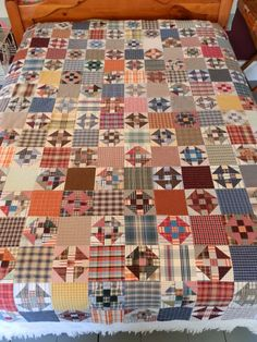Floating on a Quilted Cloud: Plaid Shirt Churn Dash Quilt