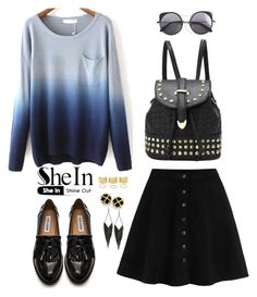 """Shein 5."" by amra-f ❤ liked on Polyvore featuring WithChic, Steve Madden, Wood Wood, GUESS, women's clothing, women's fashion, women, female, woman and misses"