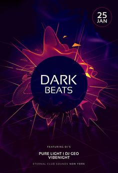 Dark Beats Flyer by styleWish (Download PSD file 9)