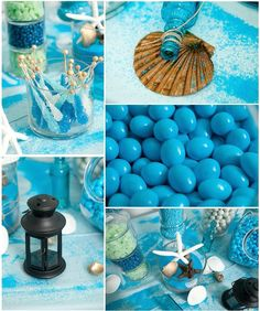 Beach props for a candy buffet. Perfect for a beach party or wedding.