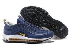 hot sale online ce1c5 dcae6 2017-2018 Hot Sale Nike Air Max 97 Midnight Navy Metallic Gold 2017 Winter  Fall