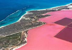 Hutt Lagoon, lago cor-de-rosa na Austrália;
