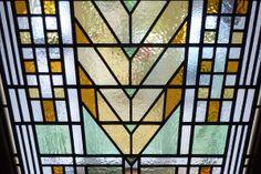 Frank Lloyd Wright door panel - Steven Cartwright Glass Designs
