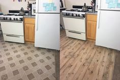 The $30 Kitchen Floor Update You'll Wish You'd Seen Sooner- I have to say this made me smile- imagining her being down on the floor and the CHANGE it did make..
