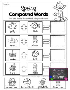 Compound Words- Such a fun activity for Kindergarten