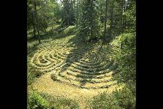 Labyrint på Stor-Haraskär, Örnsköldsvik, Vesternorrland.
