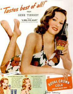 Old Hollywood actresses for Royal Crown Cola