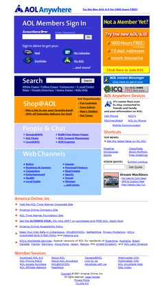 Look at how AOL website looked in 2001 and travel with us through the history of web design. Instant Messenger, Instant Messaging, Design Museum, Timeline, Web Design, How To Get, Messages, Website, Design Web