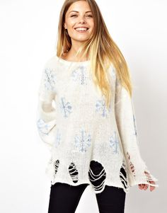 Wildfox Christmas Snowflake Jumper