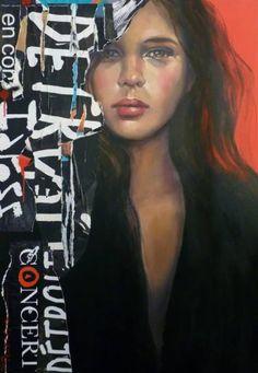 """Saatchi Art Artist Pascale Taurua; Painting, """"le rouge et le noir"""" #art"""