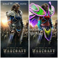 Warcraft movie poster? NOT ENOUGH SHOULDER PADDING!