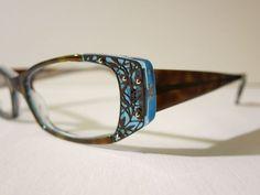 0960a99804 Jean Lafont Darling 675 Blue Tortoise Leaf Pattern Glasses Eyewear Eyeglass