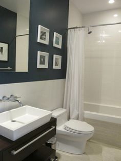 Skirted toilet - way easier to clean without all bumps in back and looks nicer. Lotus and Jesse's Modern Condo
