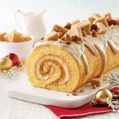 Obtain Chinese Food Dessert Recipe Christmas Brunch, Christmas Desserts, Christmas Baking, Christmas Cakes, Christmas 2019, Cake Roll Recipes, Dessert Recipes, Canadian Dishes, Glaze For Cake