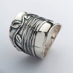 Hey, I found this really awesome Etsy listing at https://www.etsy.com/listing/211826550/sterling-silver-smooth-nature-texture