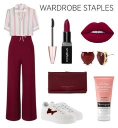 """wardrobe staples"" by jennyhrmnlr on Polyvore featuring Roland Mouret, Solid & Striped, Kenzo, Adrienne Vittadini, Betsey Johnson, Maybelline, Smashbox and Lime Crime"