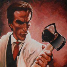 American Psycho Caricature by JonMckenzie on DeviantArt Horror Art, Horror Movies, American Psycho Movie, Christian Bale, Halloween Horror, Caricature, Fan Art, Deviantart, Films