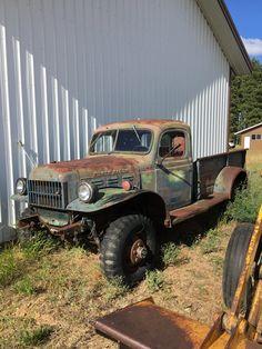 a 1952 Dodge Power Wagon as found in Cle Ellum, WA. Restoration now underway.