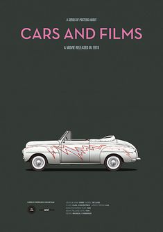 Poster of the car of Grease. Illustration Jesús Prudencio. Cars And Films