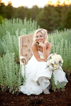 #Brides | See the full wedding on #SMP Weddings: http://www.stylemepretty.com/oregon-weddings/sisters/2013/12/10/rustic-oregon-wedding-at-aspen-lakes/ Kimberly Kay Photography