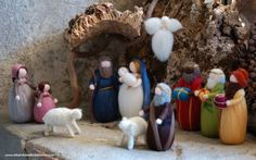 Krippe Könige Hirten Familie zwei Schafe von LeBambinediCaldalana