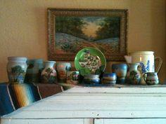 Love Texas Bluebonnets & Meyer Pottery.