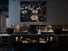 Moody interiors of Le Pristine restaurant take cues from the Old Masters Space Copenhagen, Black Dining Chairs, Renaissance Architecture, Cafe House, Mansions Homes, Hospitality Design, Old Master, Commercial Design, Danish Design