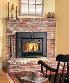 LIVING ROOM: Add brick hearth to existing fireplace