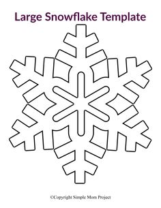 Click and print one or all of our 8 easy and free printable paper snowflake patterns! Perfect for a Frozen birthday party, simple snowflake coloring page or decorate the snowflake classroom activity. Paper Snowflake Template, Paper Snowflake Patterns, Snowflake Stencil, Paper Snowflakes, Origami Templates, Box Templates, Snowflake Outline, Painting Snowflakes, Snowflake Craft