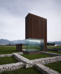 This rusty metal tower was designed by Austrian studio Marte.Marte Architects to help tourists locate excavated Roman ruins on the outskirts of a town in western Austria.
