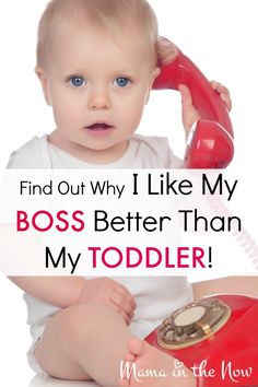 Find Out Why I Like My Boss Better Than My Toddler - on Scary Mommy! This is hysterical, especially # 8 Practical Parenting, Gentle Parenting, Parenting Advice, Strong Willed Child, Scary Mommy, Kids Board, Parenting Toddlers, Parent Resources