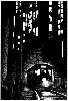 Japanese Manga, Manga Pioneer, Call Gekiga, Illustration, Dramatic Comics, Yoshihiro Tatsumi, Linocut
