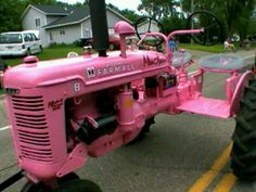 Pink Tractor Pink Tractor, International Tractors, My Secret Garden, Secret Gardens, Vintage Tractors, Down On The Farm, My Favorite Color, Pretty In Pink, Fun Facts