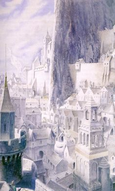 Minas Tirith -- Alan Lee.