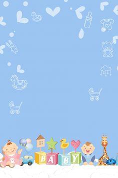 background background simple Cartoon Concise Fashion Baby P Baby Shower Templates, Baby Shower Invitation Templates, Designer Baby, Album Baby, Baby Design, Dibujos Baby Shower, Baby Boy Background, Scrapbook Bebe, Baby Motiv